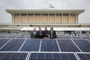 Israel installs solar panels at parliament to save energy