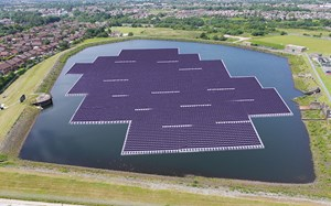 United Utilities installs Europe's largest floating solar power project on reservoir