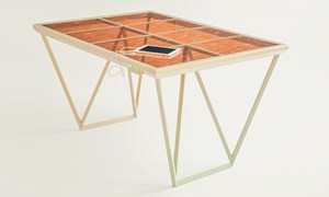 Solar Table Can Charge Your Phone Without Direct Sunlight