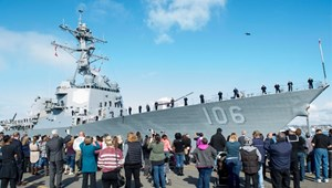 US Navy launches first biofuel-powered ship