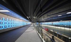 Ga tàu điện ngầm hiện đại, tiết kiệm năng lượng tại Đài Bắc