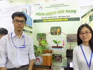 2 học trò Đà Nẵng sản xuất điện từ... cây xanh