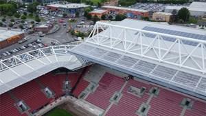 Sân vận động Ashton Gate tiếp tục thực hiện cách mạng năng lượng mặt trời