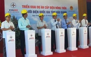 Triển khai dự án cấp điện nông thôn tại Hậu Giang
