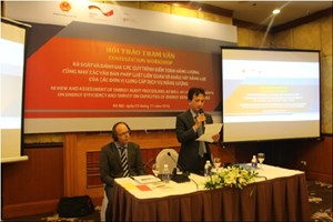 Hội thảo lấy ý kiến của dự án Năng lượng tái tạo và hiệu quả năng lượng