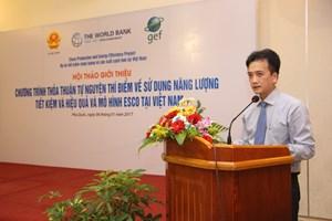Chương trình thỏa thuận tự nguyện thí điểm về sử dụng năng lượng tiết kiệm và hiệu quả và Mô hình ESCO tại Việt Nam