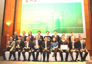 Trao giải Giải thưởng quốc gia về Hiệu quả năng lượng trong công nghiệp năm 2017
