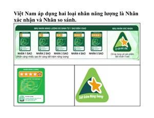 Thực trạng và các giải pháp thúc đẩy dán nhãn năng lượng tại Việt Nam