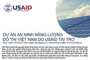 Thư mời tham gia của Dự án An ninh Năng lượng Đô Thị Việt Nam: Hoạt động kết nối nhà đầu tư dành cho các Công ty phát triển năng lượng sạch tại Việt Nam
