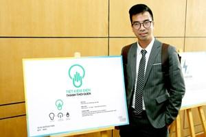 Nghe nhà báo Nguyễn Duy Thành, tác giả đạt giải nhất Cuộc thi sáng tác logo và slogan về tiết kiệm điện, chia sẻ về quá trình sáng tạo