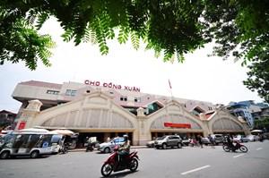 Thí điểm sử dụng năng lượng mặt trời trên mái chợ Đồng Xuân