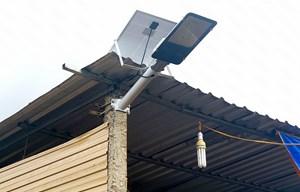 Dùng đèn năng lượng mặt trời để tiết kiệm điện