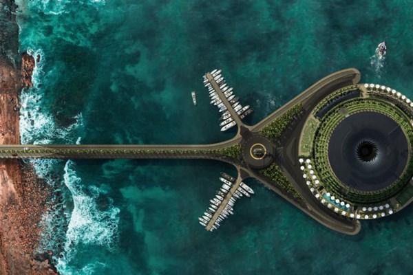 Khách sạn nổi xoay 360 độ tự cung ứng điện