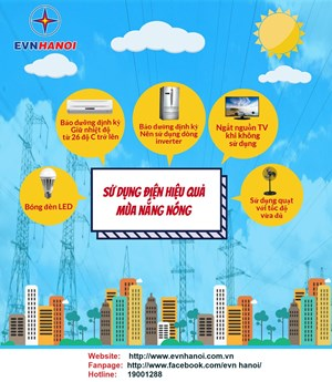 Sử dụng điện hiệu quả mùa nắng nóng